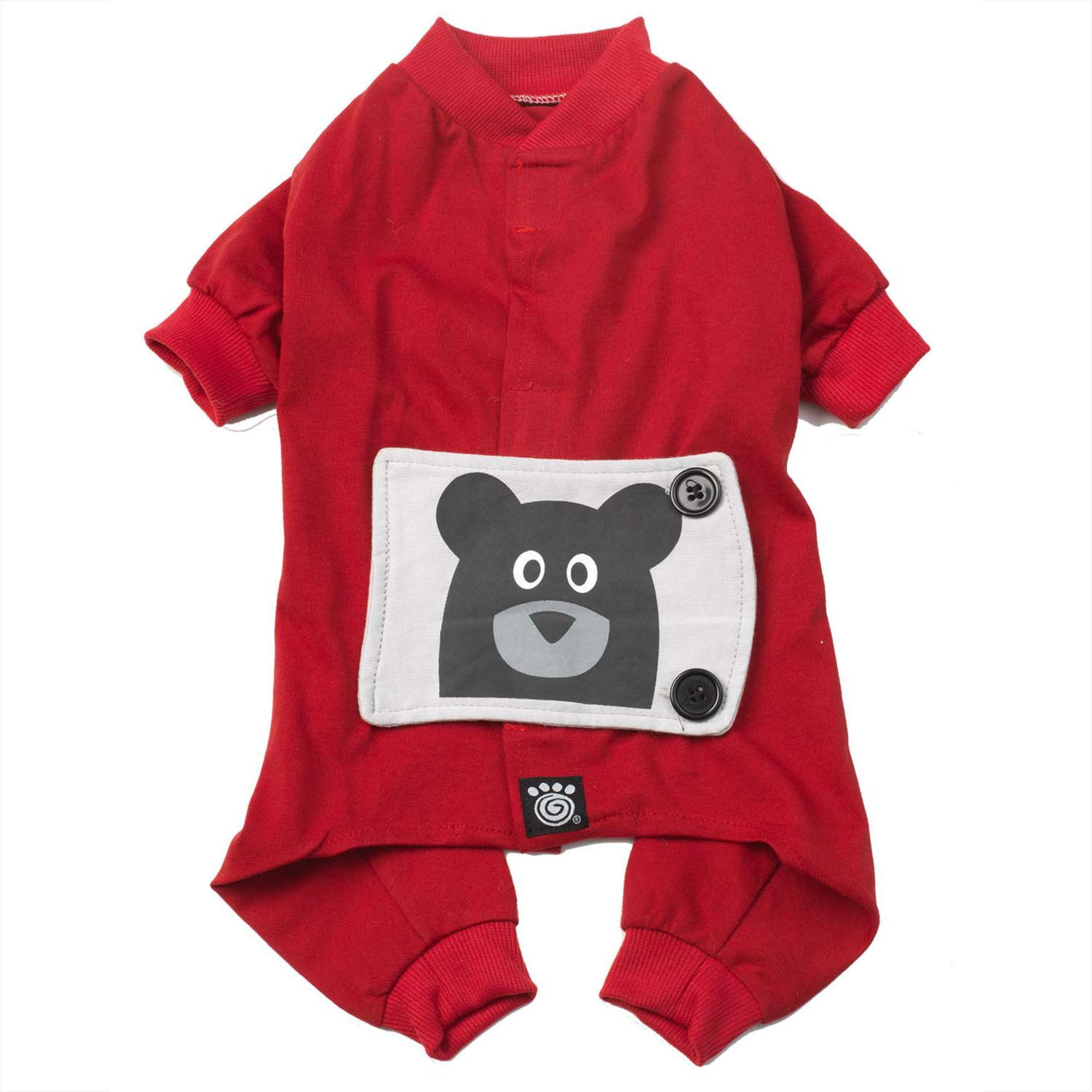 Teddy Bear Dog Pajamas - Red