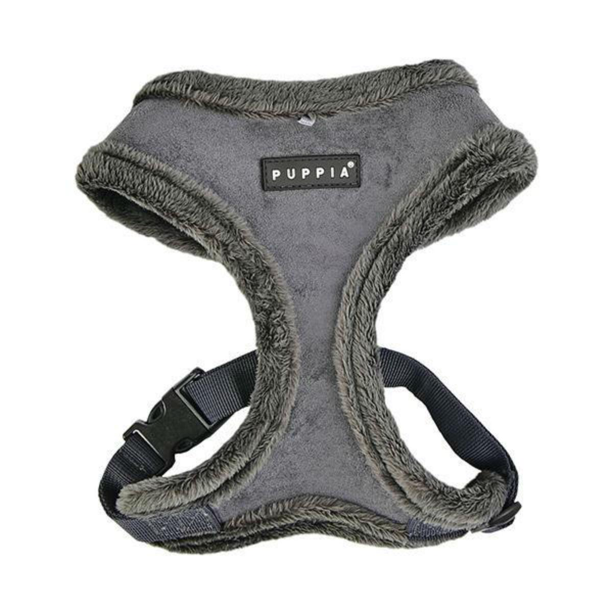 Terry Basic Style Dog Harness by Puppia - Gray
