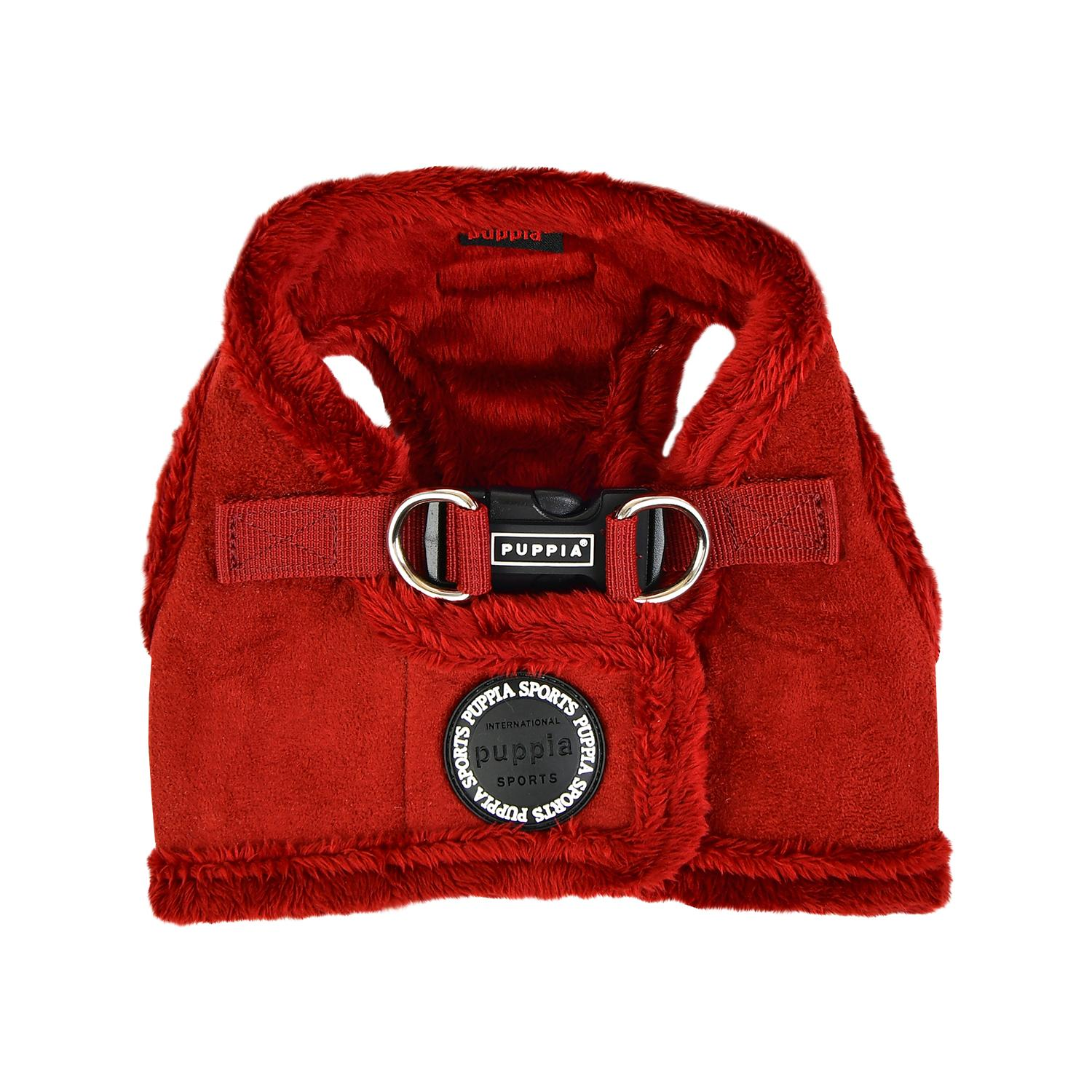 Terry Vest Dog Harness By Puppia - Wine