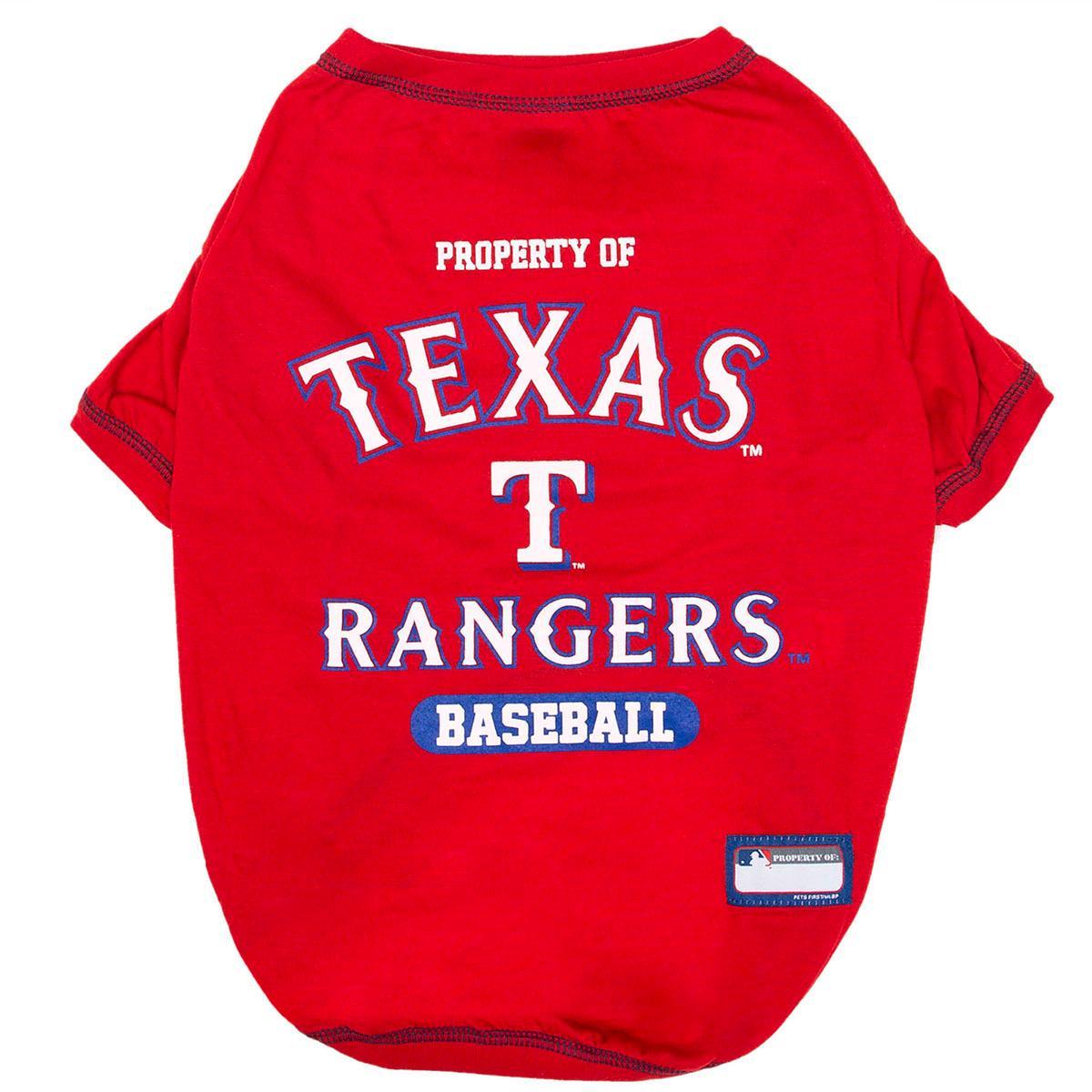 Texas Rangers Dog T-Shirt - Red