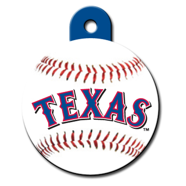 Texas Rangers Engravable Pet I.D. Tag