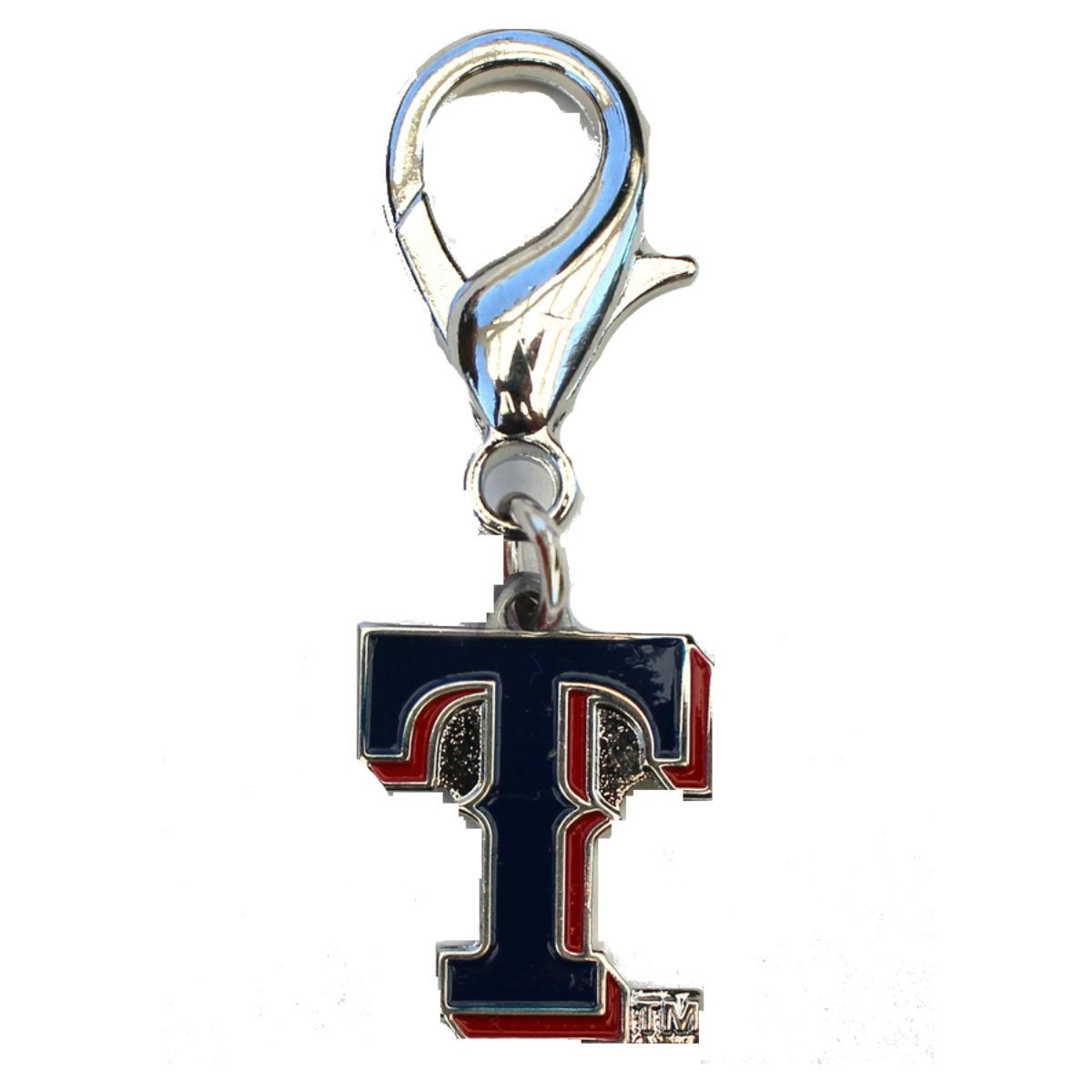 Texas Rangers Logo Dog Collar Charm