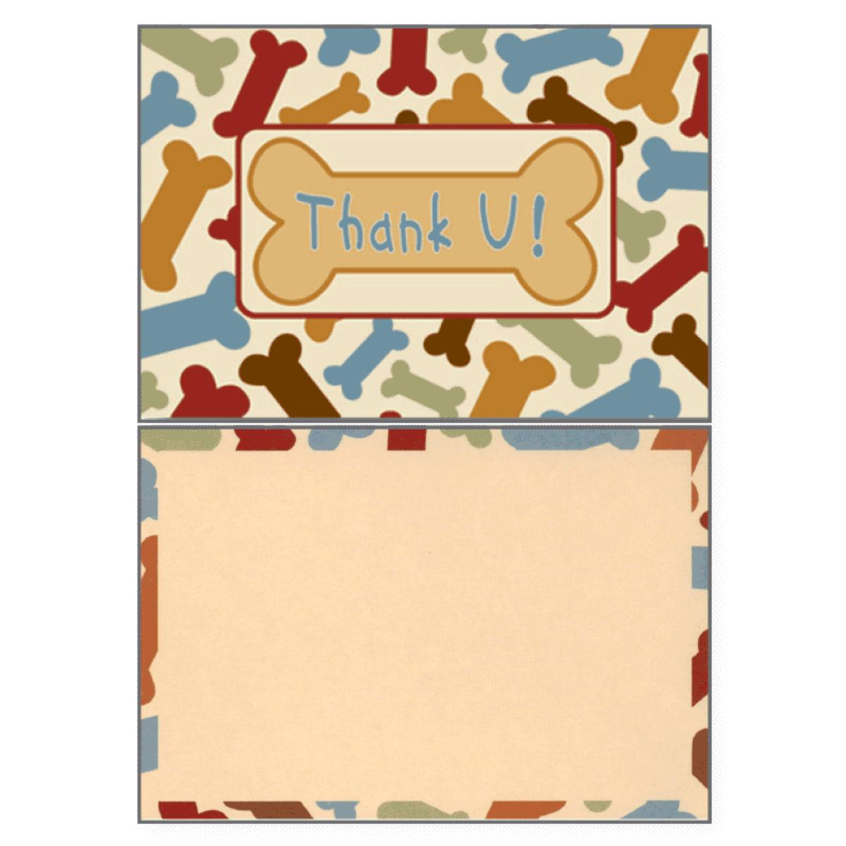 Thank You Greeting Card by Dog Speak - Bones