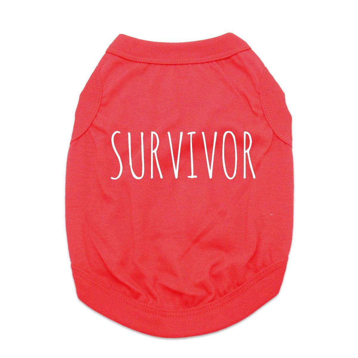Survivor Dog Shirt - Red