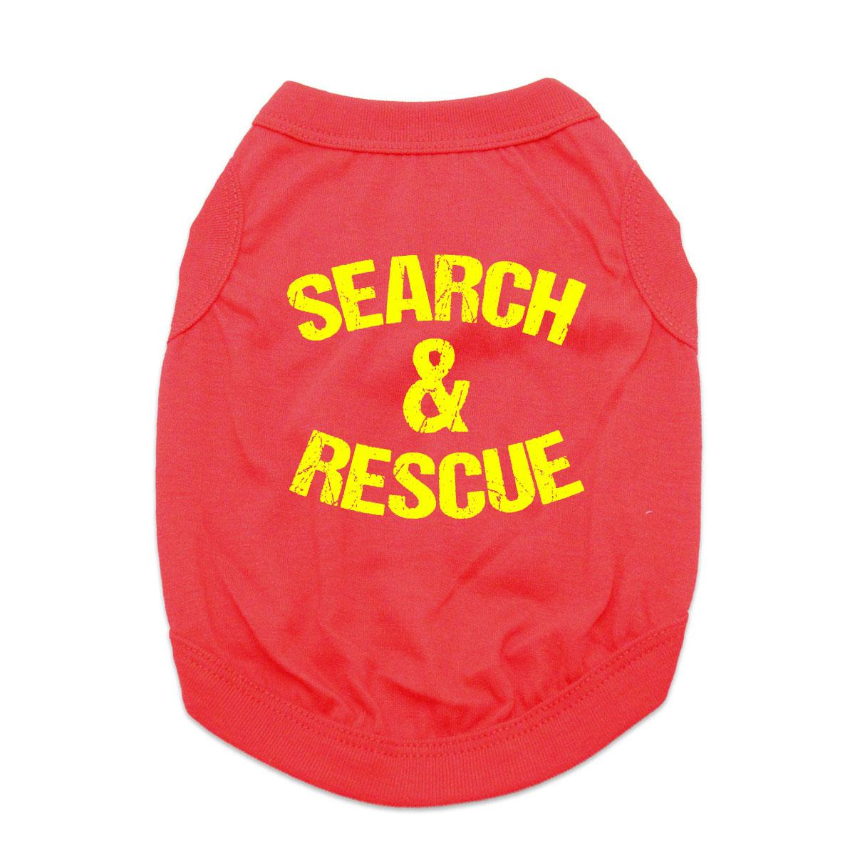 Search and Rescue Dog Shirt - Red
