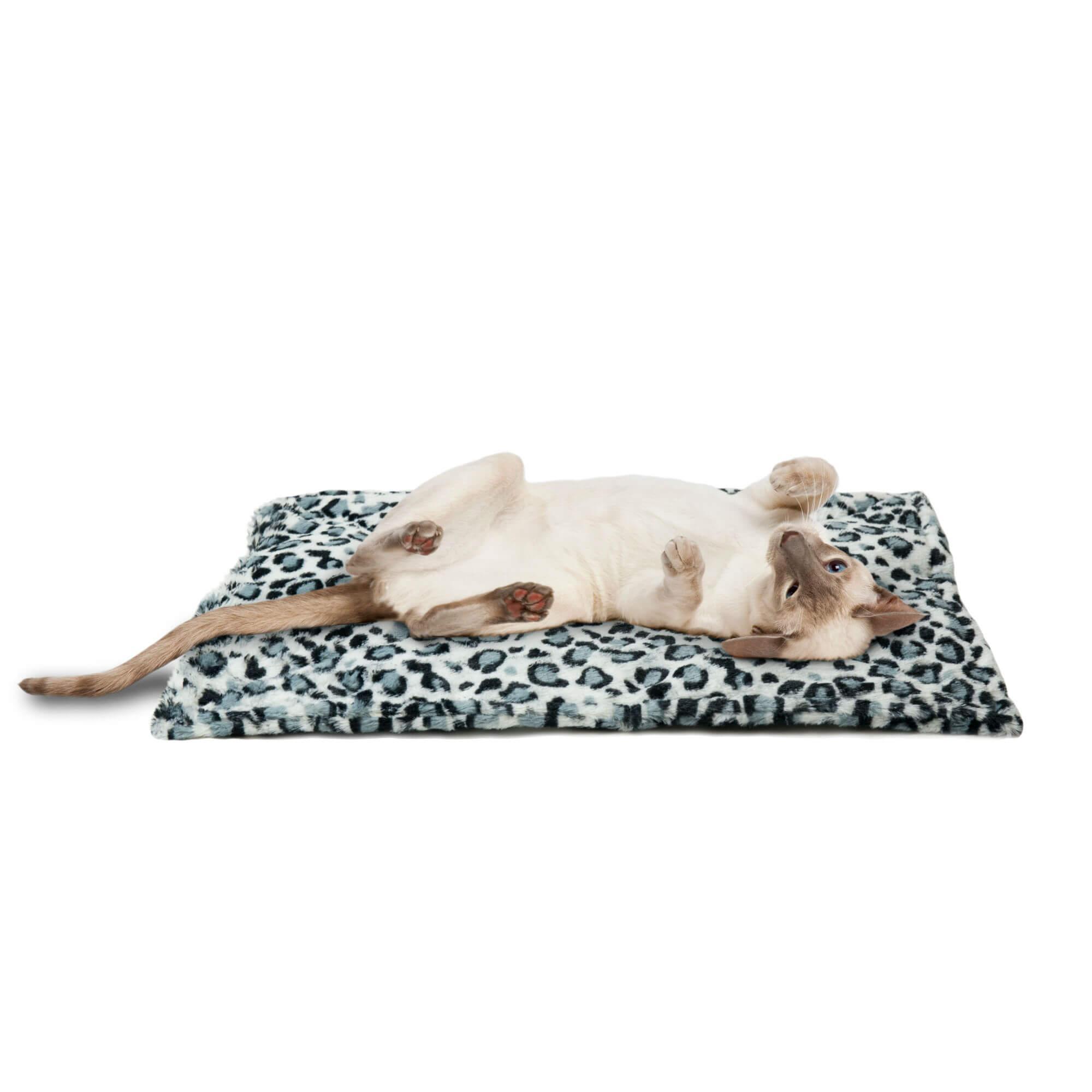 ThermaNAP Faux Fur Self-Warming Pet Mat - Snow Leopard