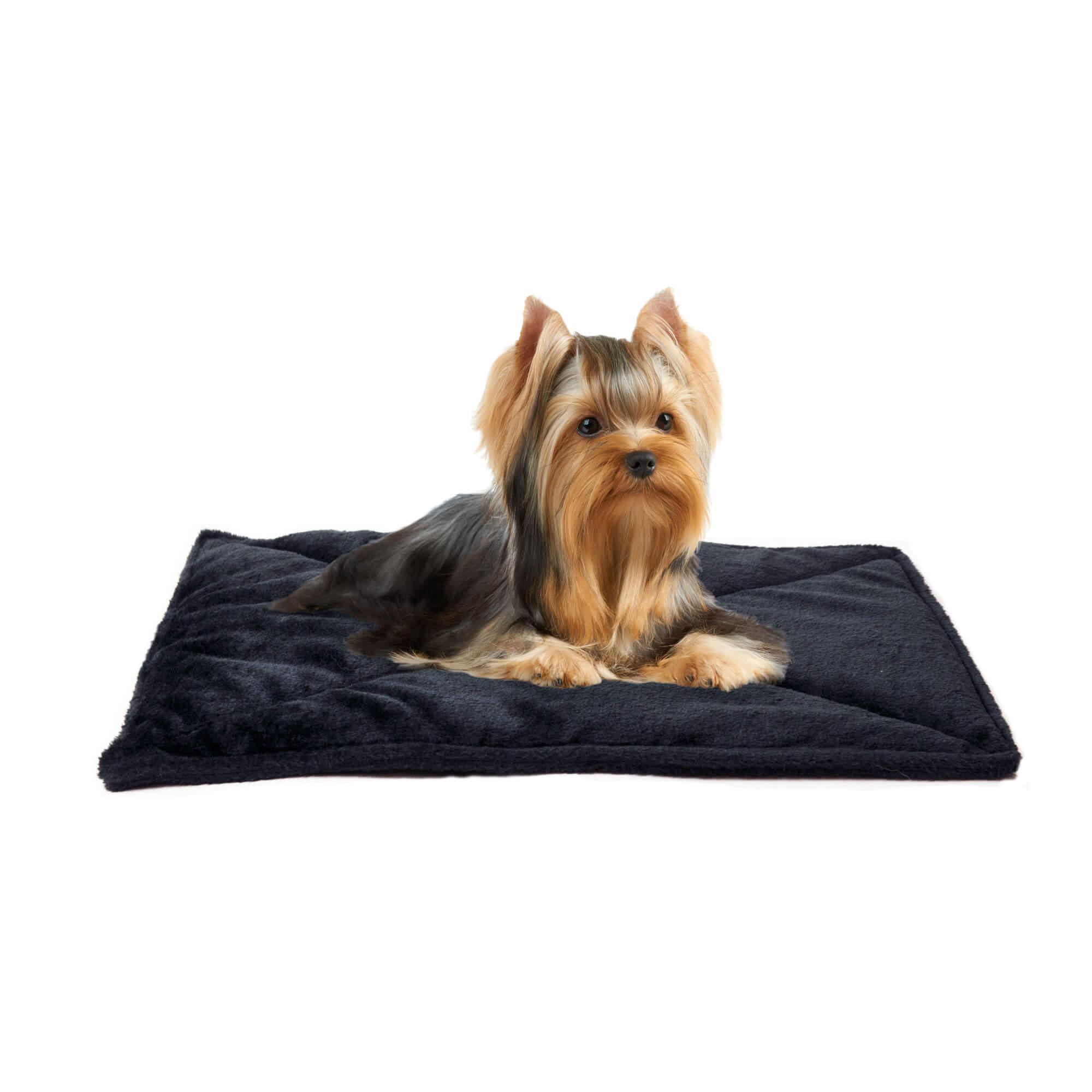 ThermaNAP Faux Fur Self-Warming Pet Mat - Black
