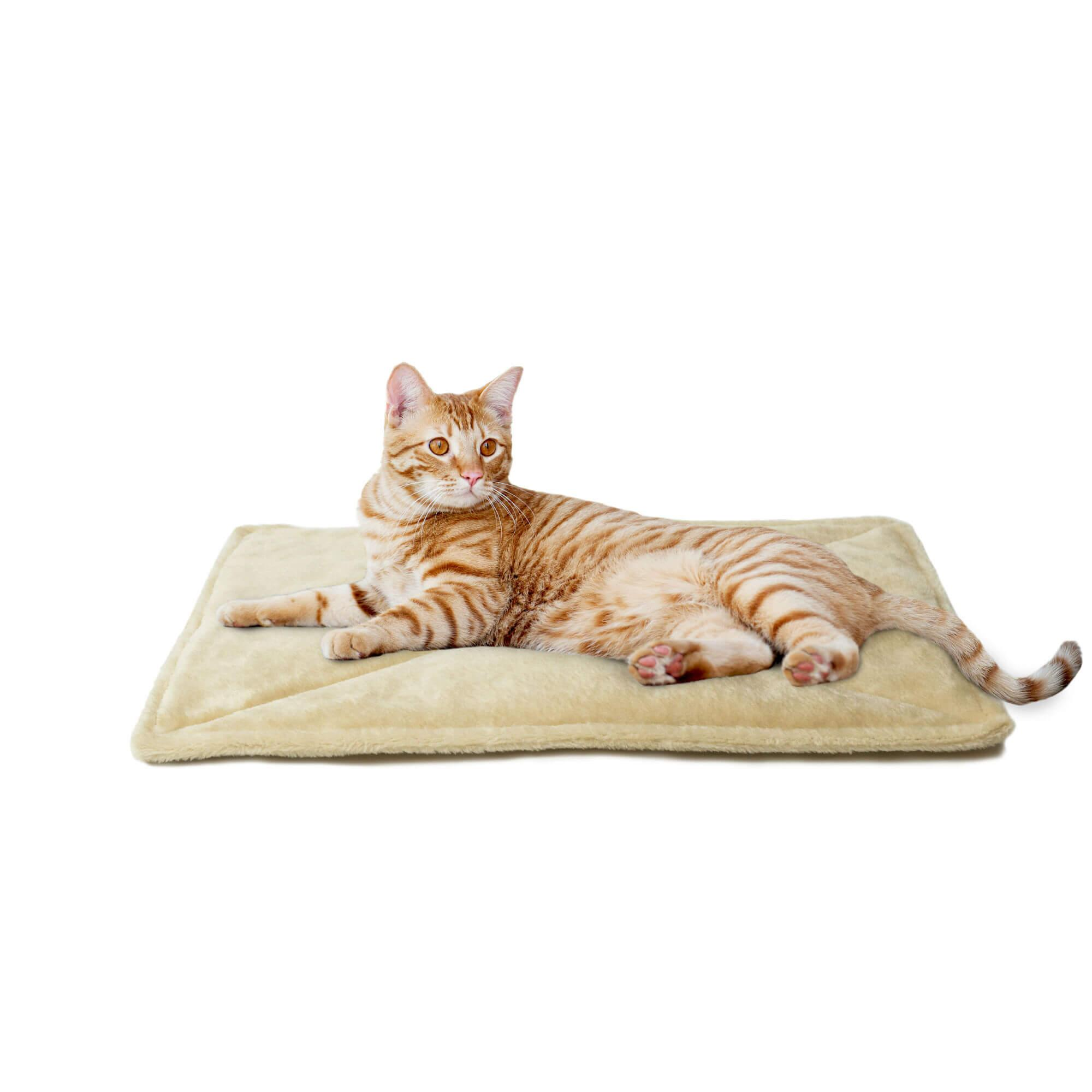 ThermaNAP Faux Fur Self-Warming Pet Mat - Cream