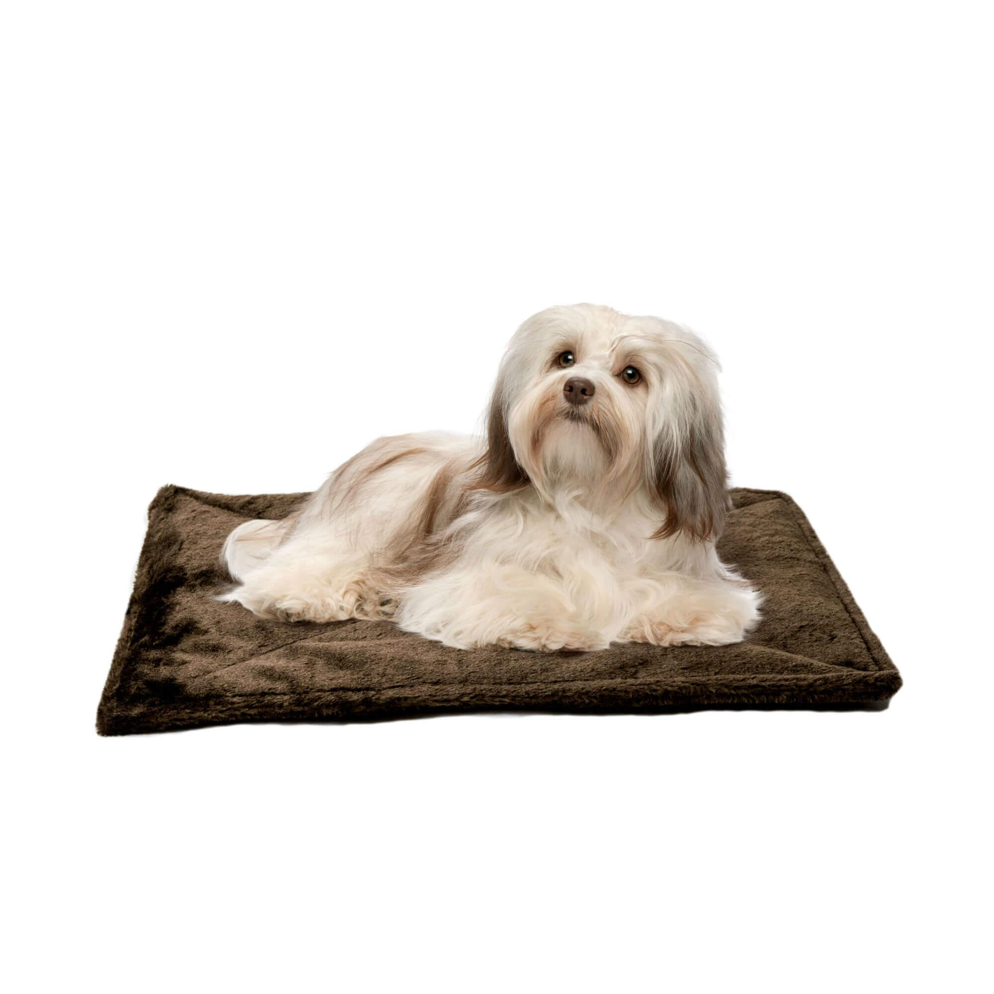ThermaNAP Faux Fur Self-Warming Pet Mat - Espresso