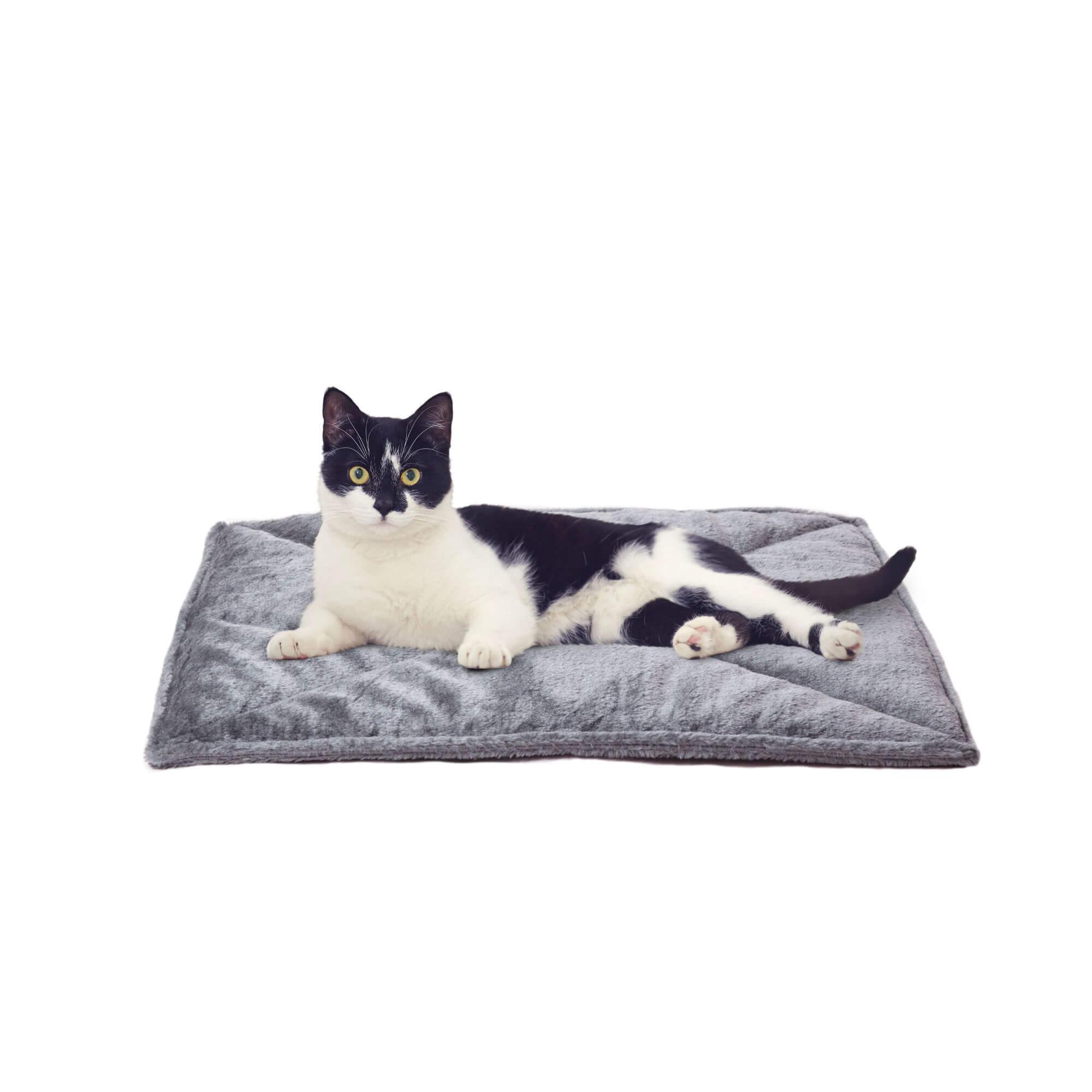 ThermaNAP Faux Fur Self-Warming Pet Mat - Gray
