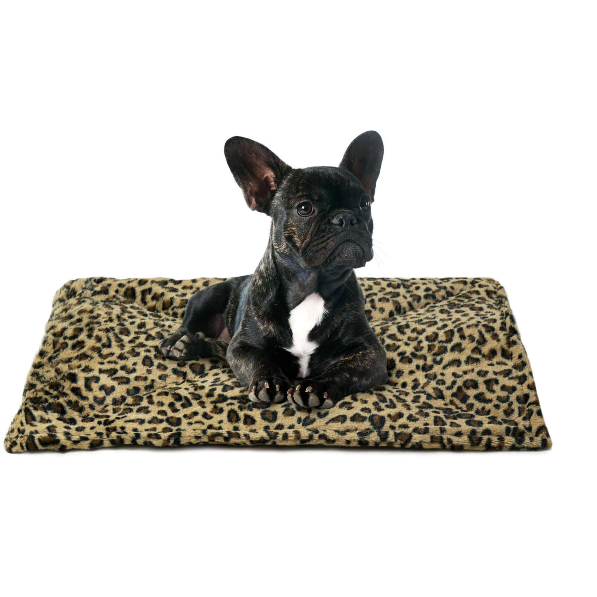 ThermaNAP Faux Fur Self-Warming Pet Mat - Leopard