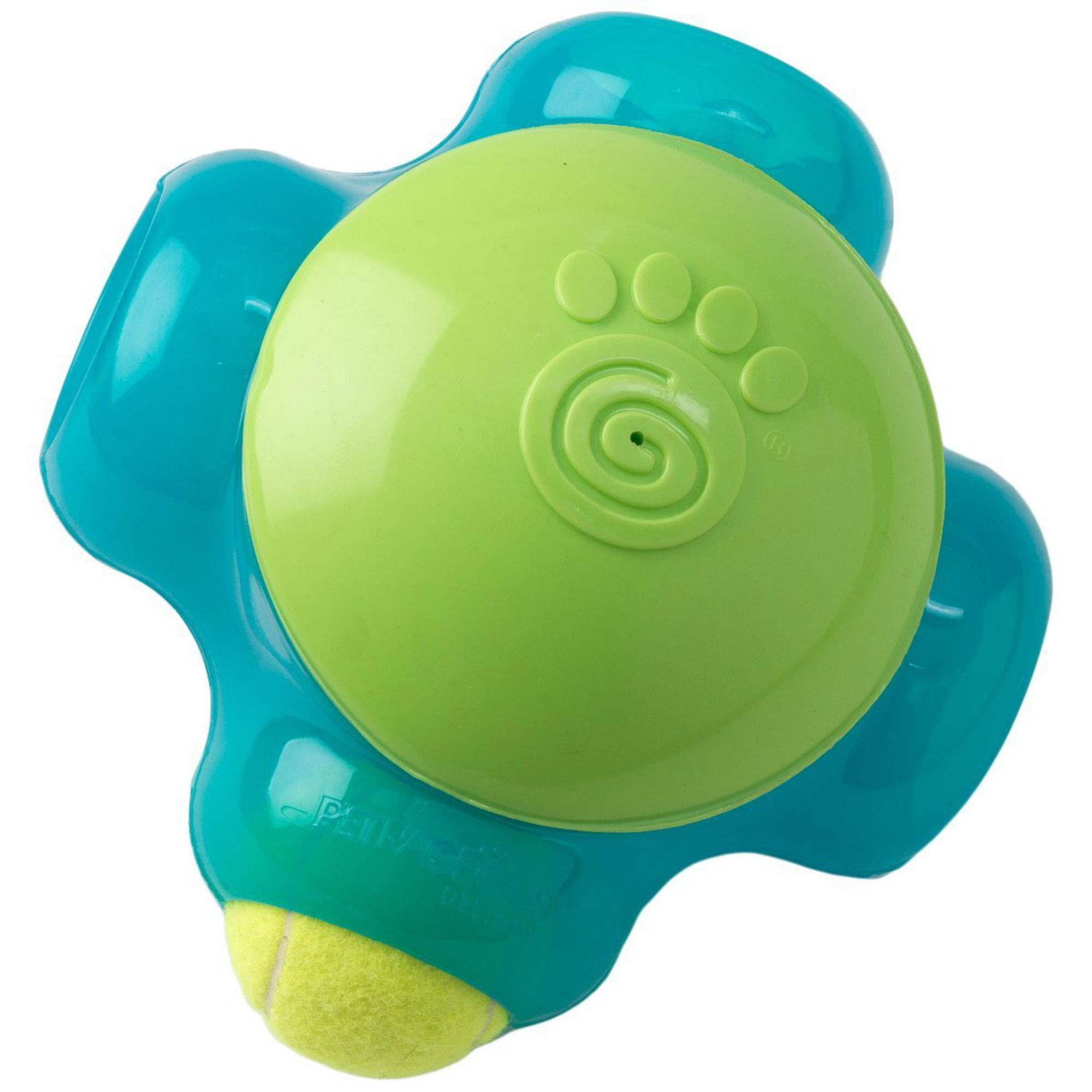 ThinkRageous Chaser-X Dog Ball Maze - Aqua/Lime Green