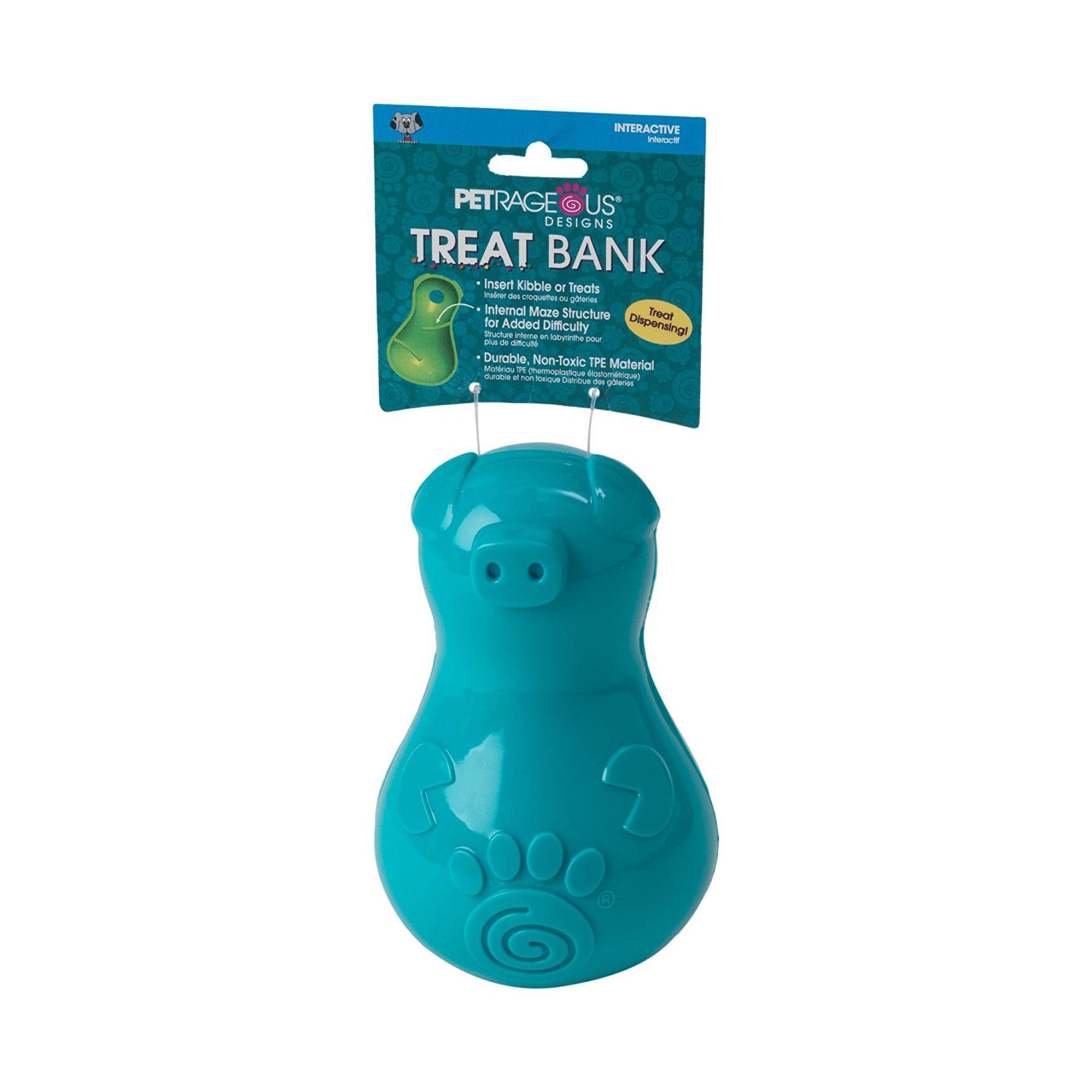 ThinkRageous Dog Treat Bank - Aqua