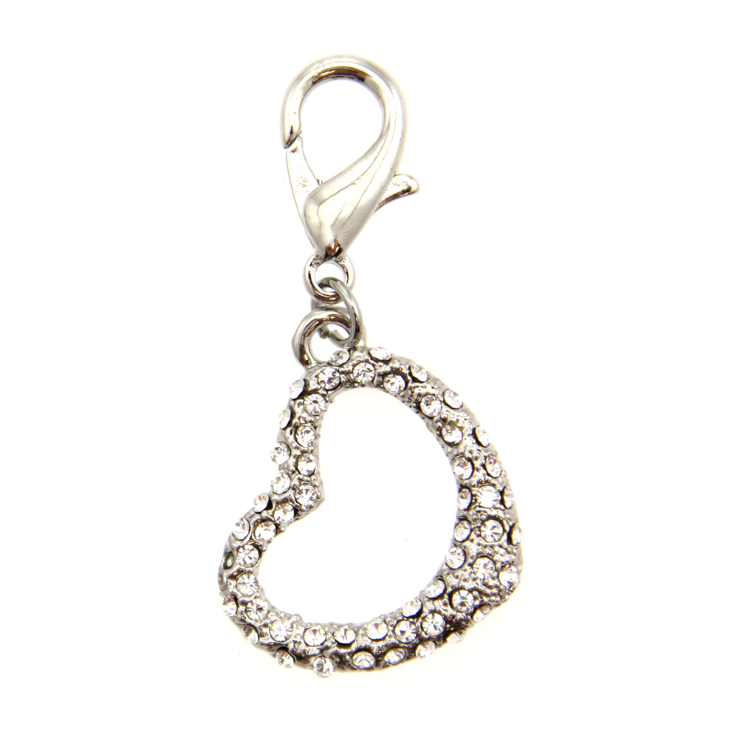 Tiff-Fou-Ny Heart D-Ring Pet Collar Charm by foufou Dog - Clear