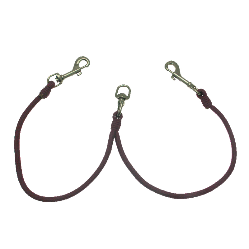 Timberwolf 2-Way Coupler Dog Leash - Burgundy