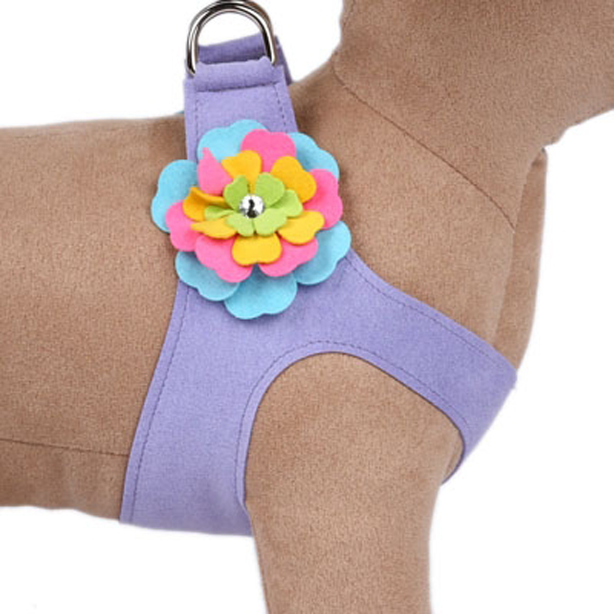 Tinkie Fantasy Flower Step-In Dog Harness by Susan Lanci - French Lavender