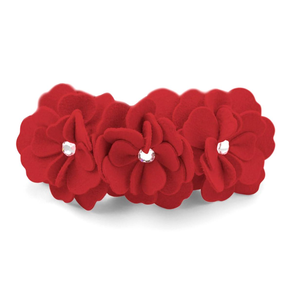 Tinkie's Garden Dog Collar by Susan Lanci - Red