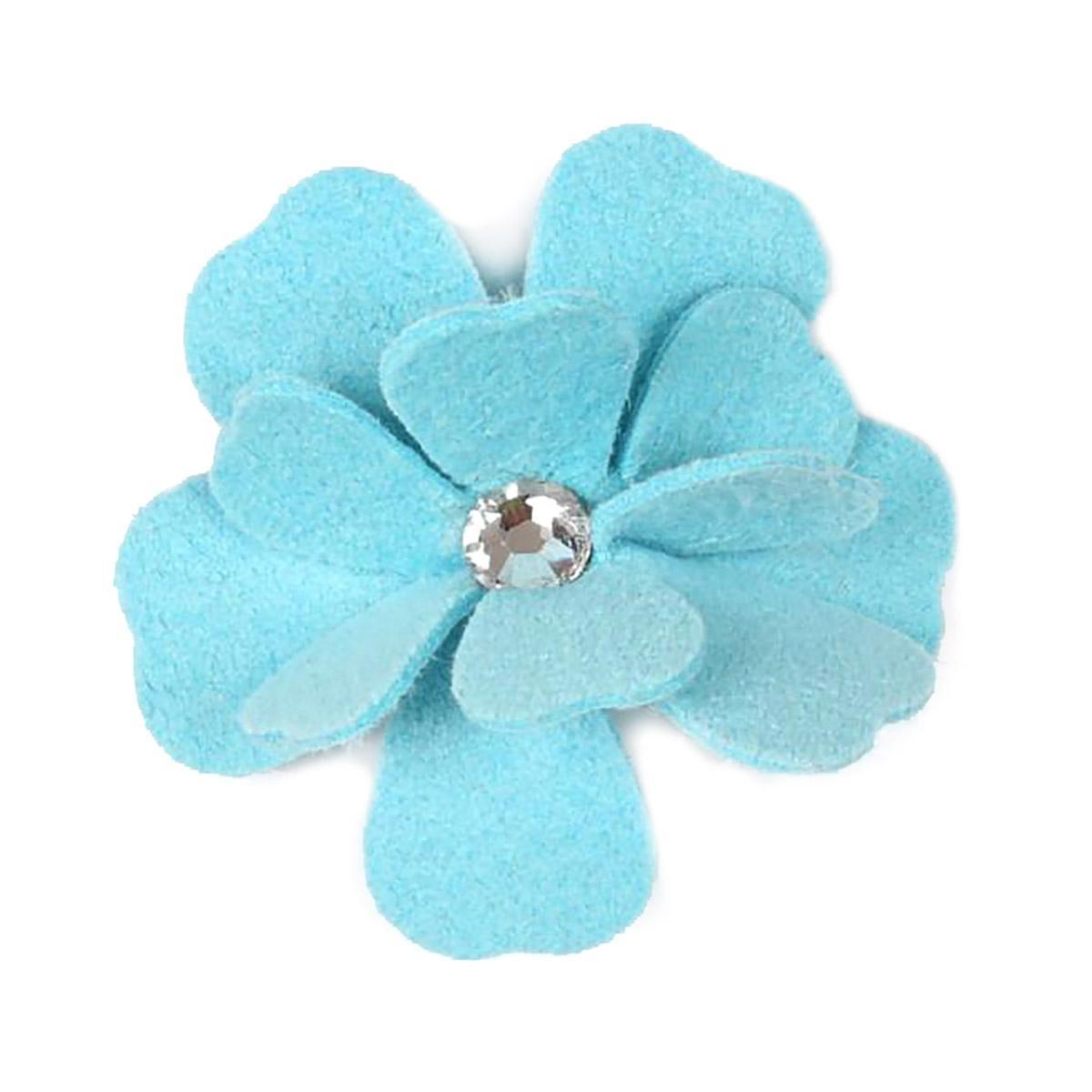 Tinkie's Garden Flower Dog Hair Bow by Susan Lanci - Tiffi Blue