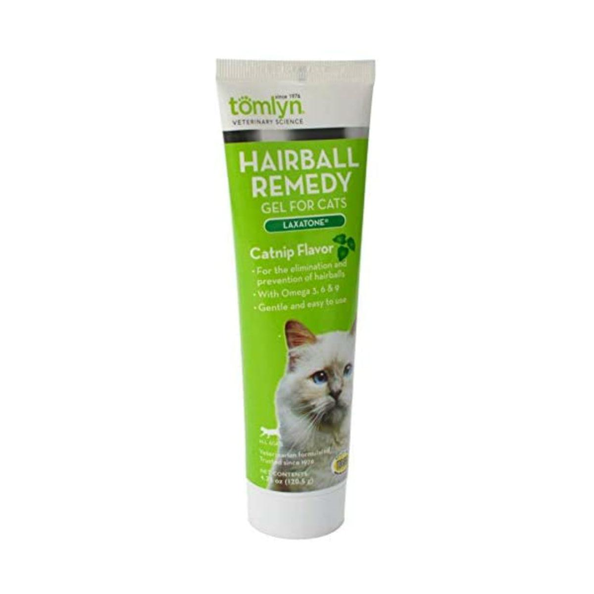 Tomlyn Laxatone Hairball Remedy Gel for Cats - Catnip