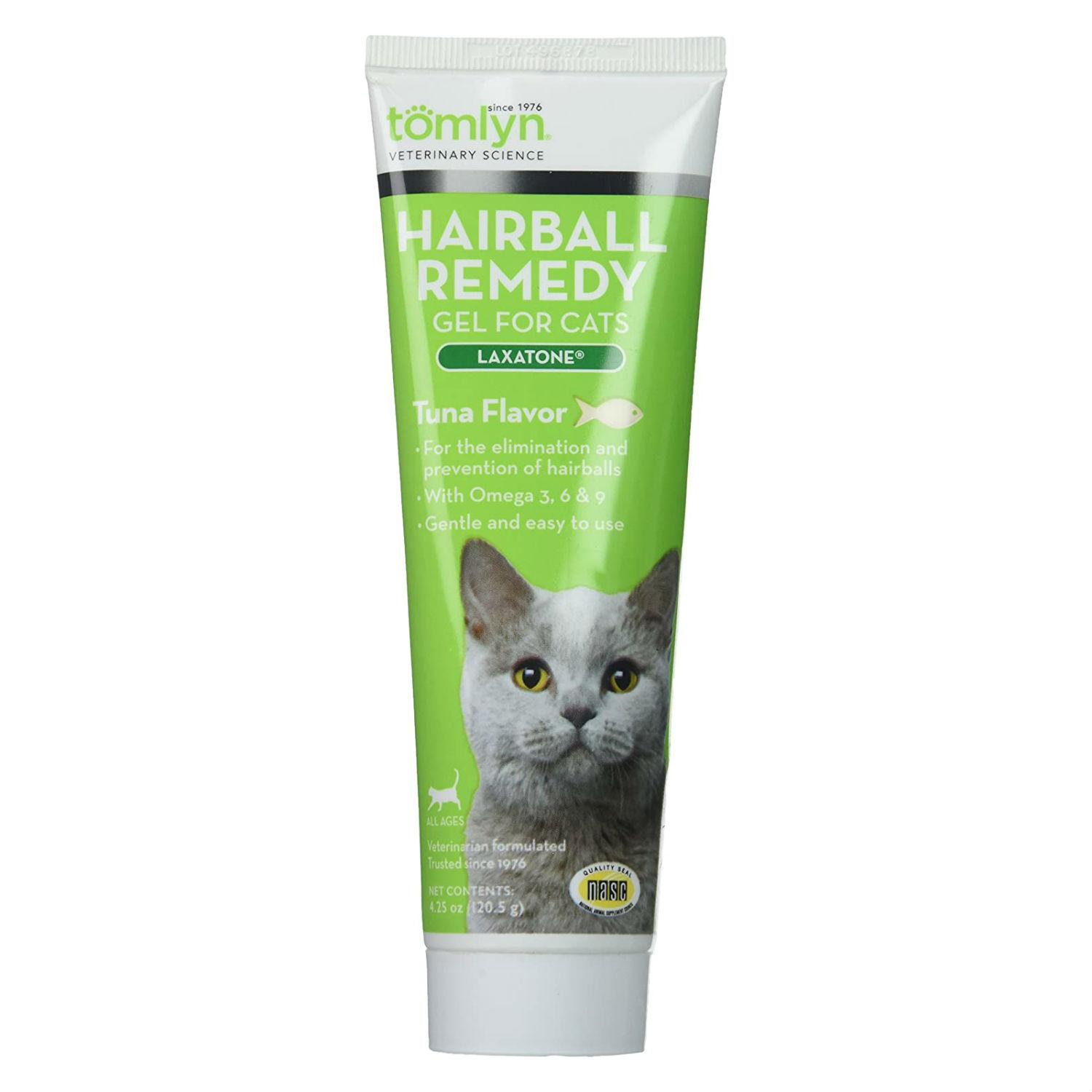 Tomlyn Laxatone Hairball Remedy Gel for Cats - Tuna