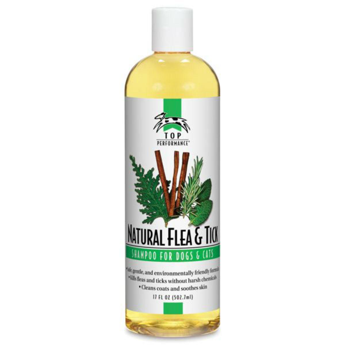 Top Performance Pet Shampoo - Natural Flea & Tick
