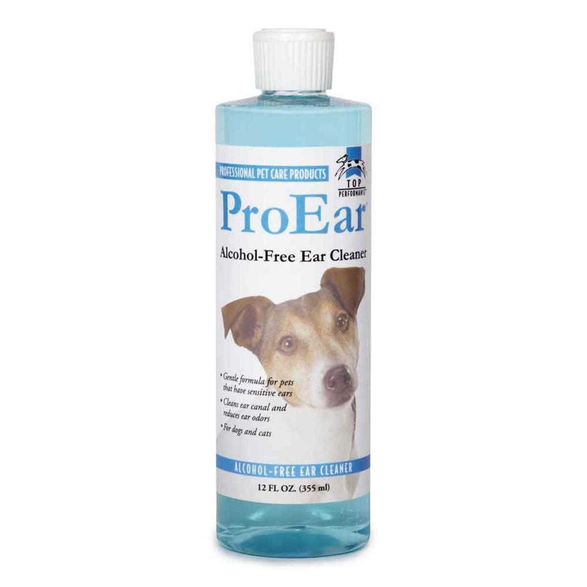 Top Performance ProEar Alcohol-Free Ear Cleaner for Dogs and Cats