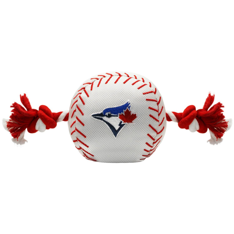 Toronto Blue Jays Nylon Plush Baseball Rope Dog Toy