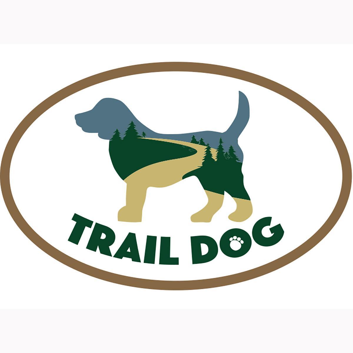 Trail Dog Oval Magnet by Dog Speak
