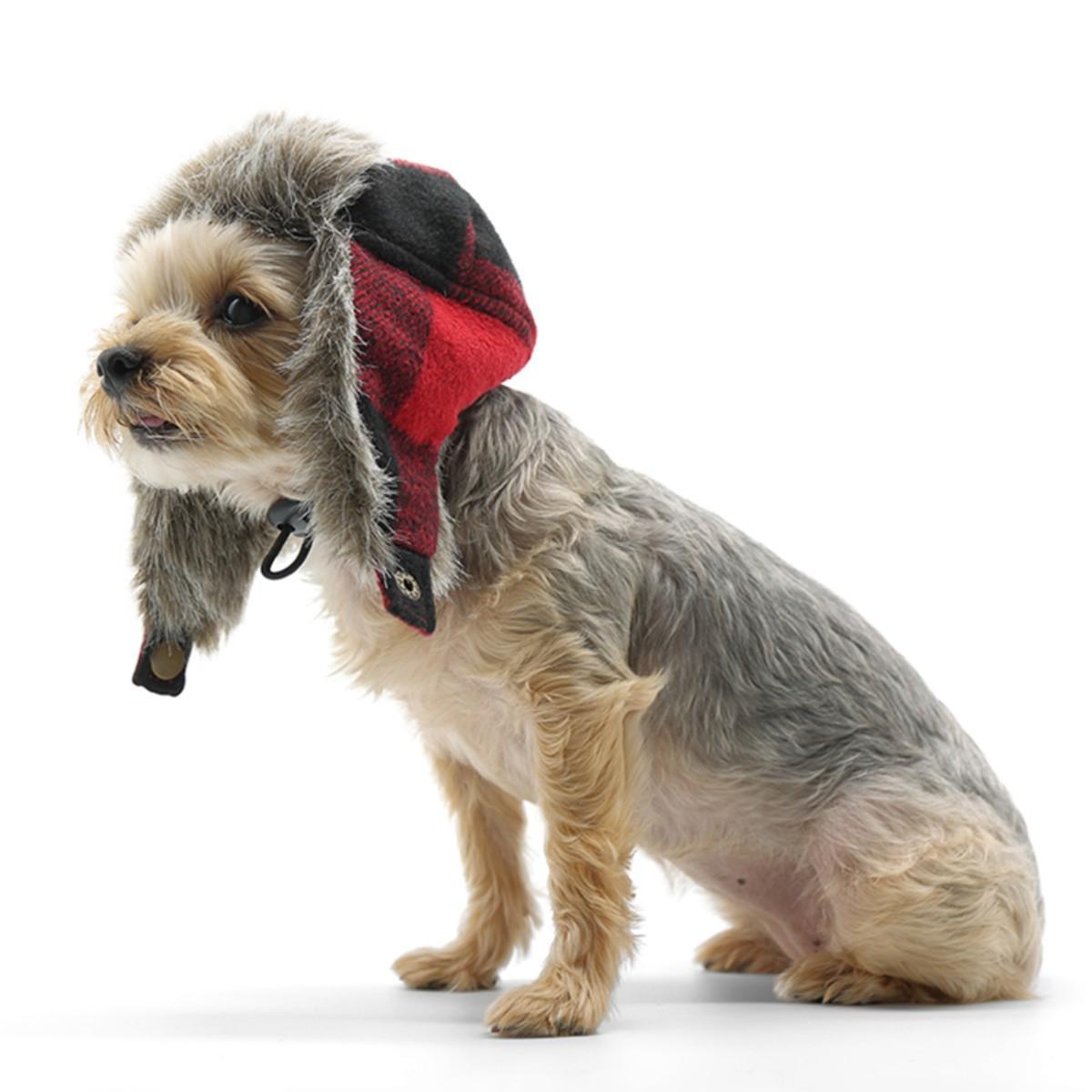 Trapper Dog Hat by Dogo - Black Denim