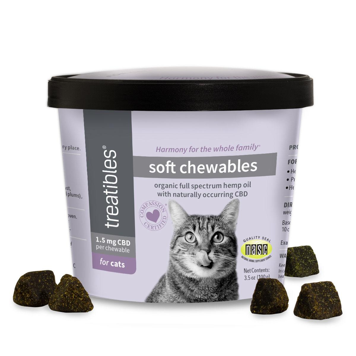 Treatibles Chicken Liver Soft Chewables - 1.5 mg CBD for Cats_main