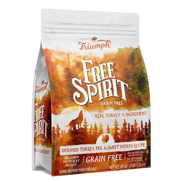 Triumph Pet Free Spirit Grain-Free Dry Dog Food - Deboned Turkey, Pea & Sweet Potato Recipe