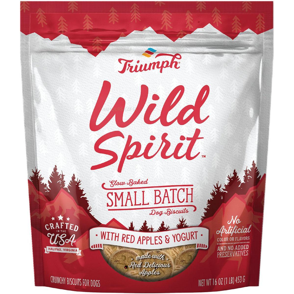 Triumph Pet Wild Spirit Small Batch Slow-Baked Biscuits Dog Treat - Red Apples & Yogurt Recipe