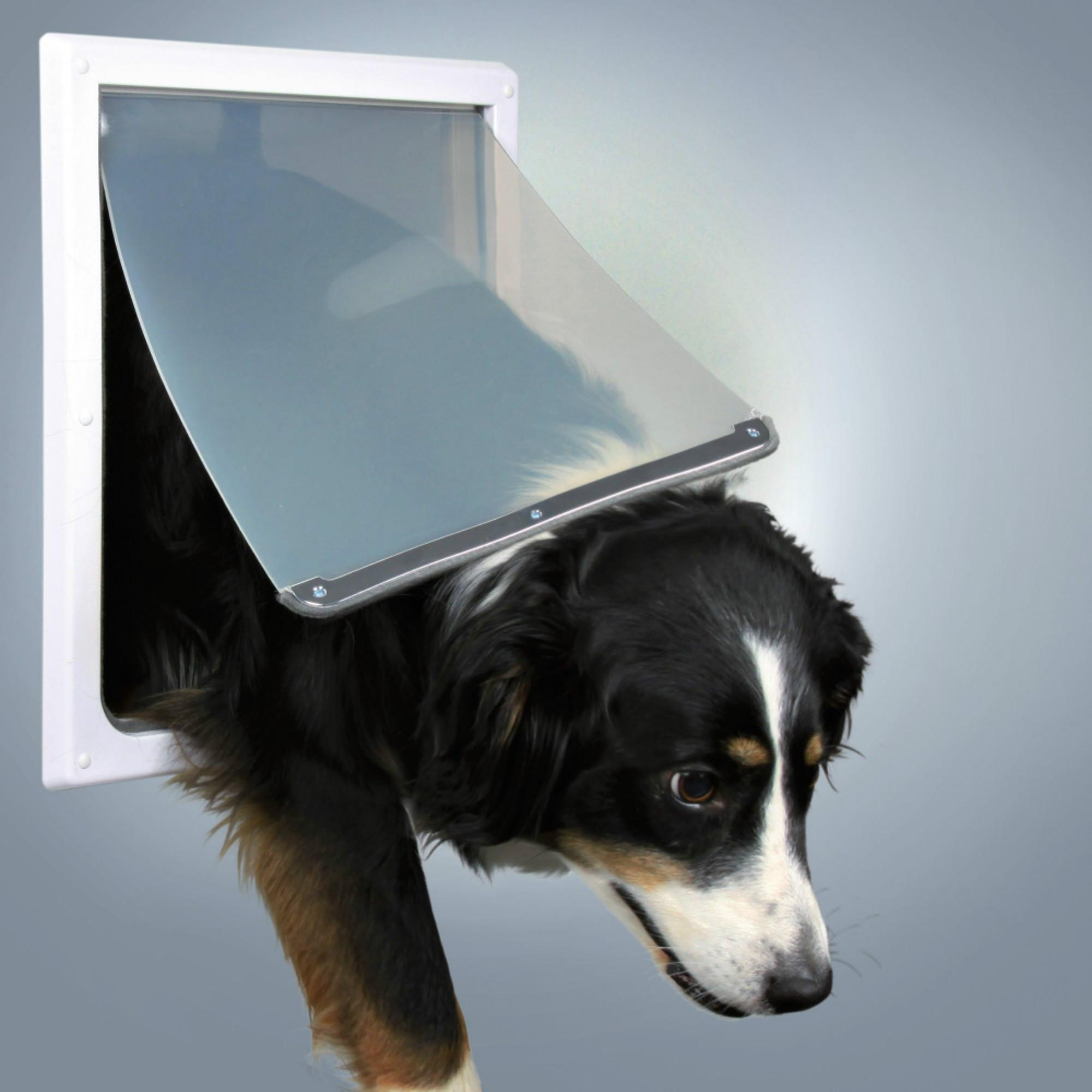 Trixie 2-Way Flap Dog Door - White