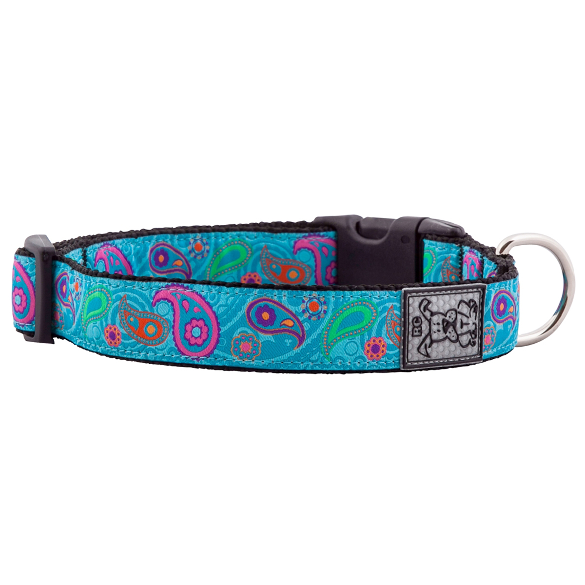 Tropical Paisley Adjustable Clip Dog Collar