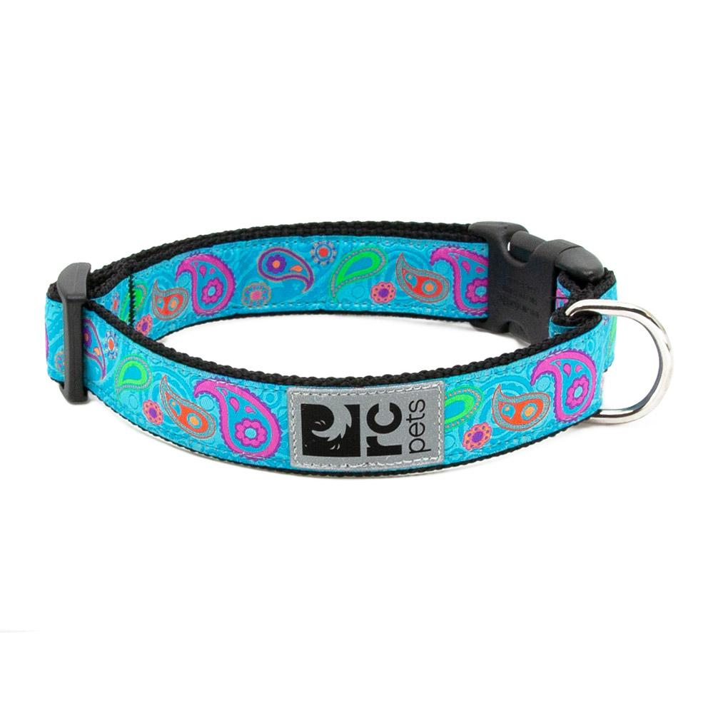Tropical Paisley Adjustable Clip Dog Collar by RC Pets
