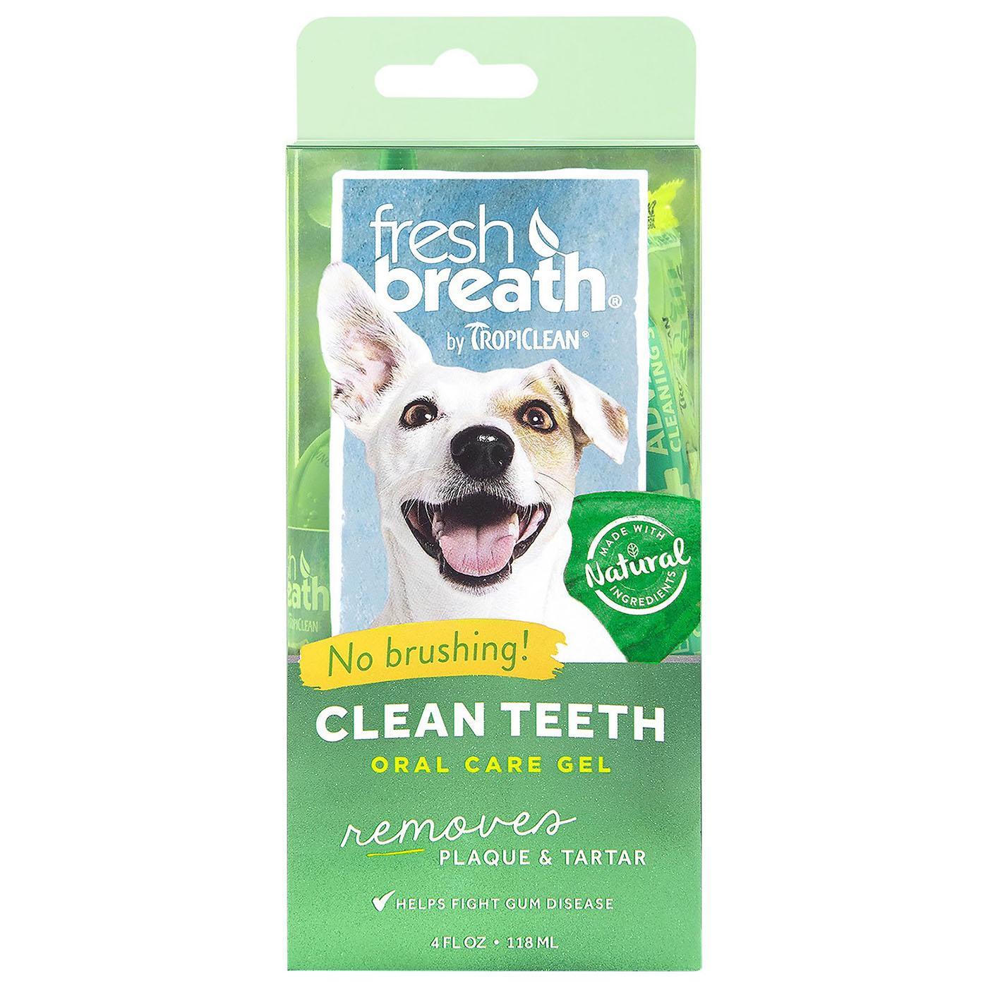 TropiClean Fresh Breath Clean Pet Teeth Gel