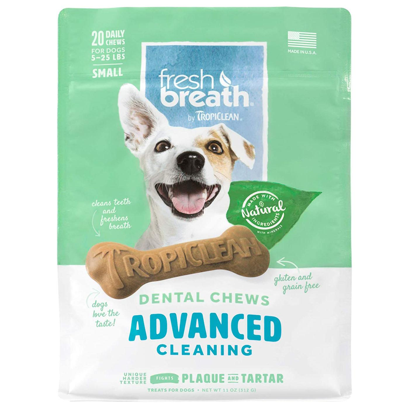TropiClean Fresh Breath Dental Chews Advanced Cleaning Dog Treats