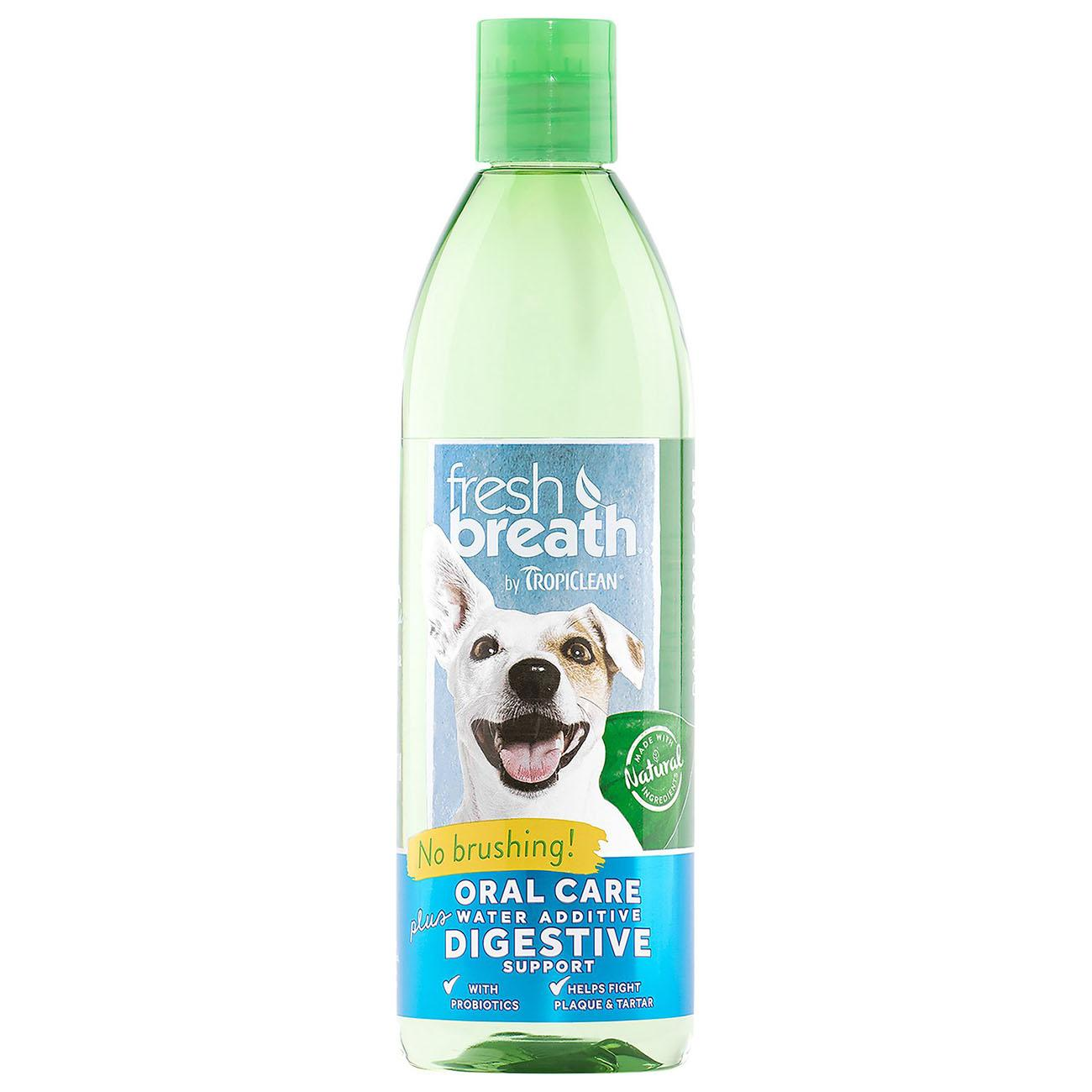 TropiClean Fresh Breath Pet Water Additive Plus - Digestive