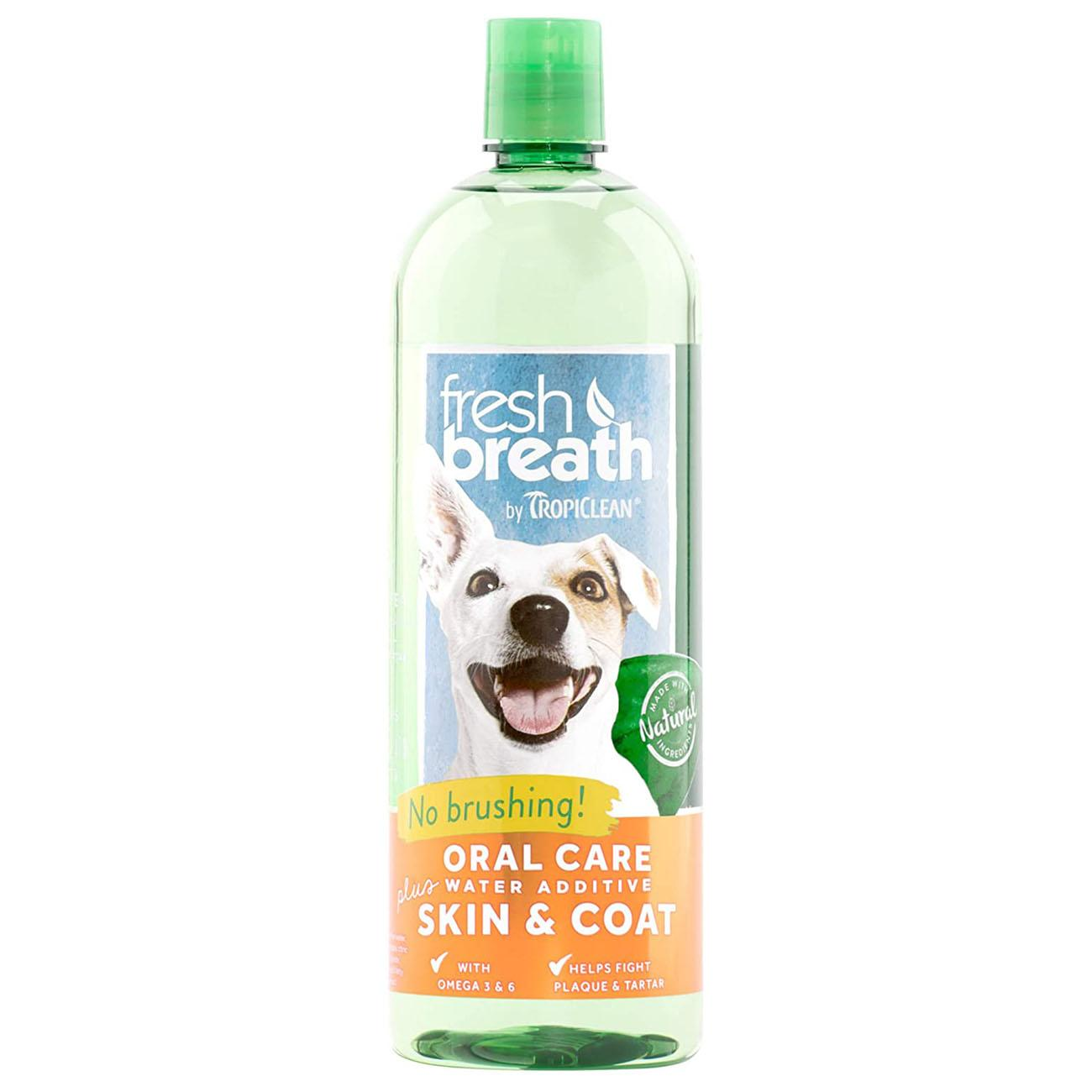 TropiClean Fresh Breath Pet Water Additive Plus - Skin & Coat