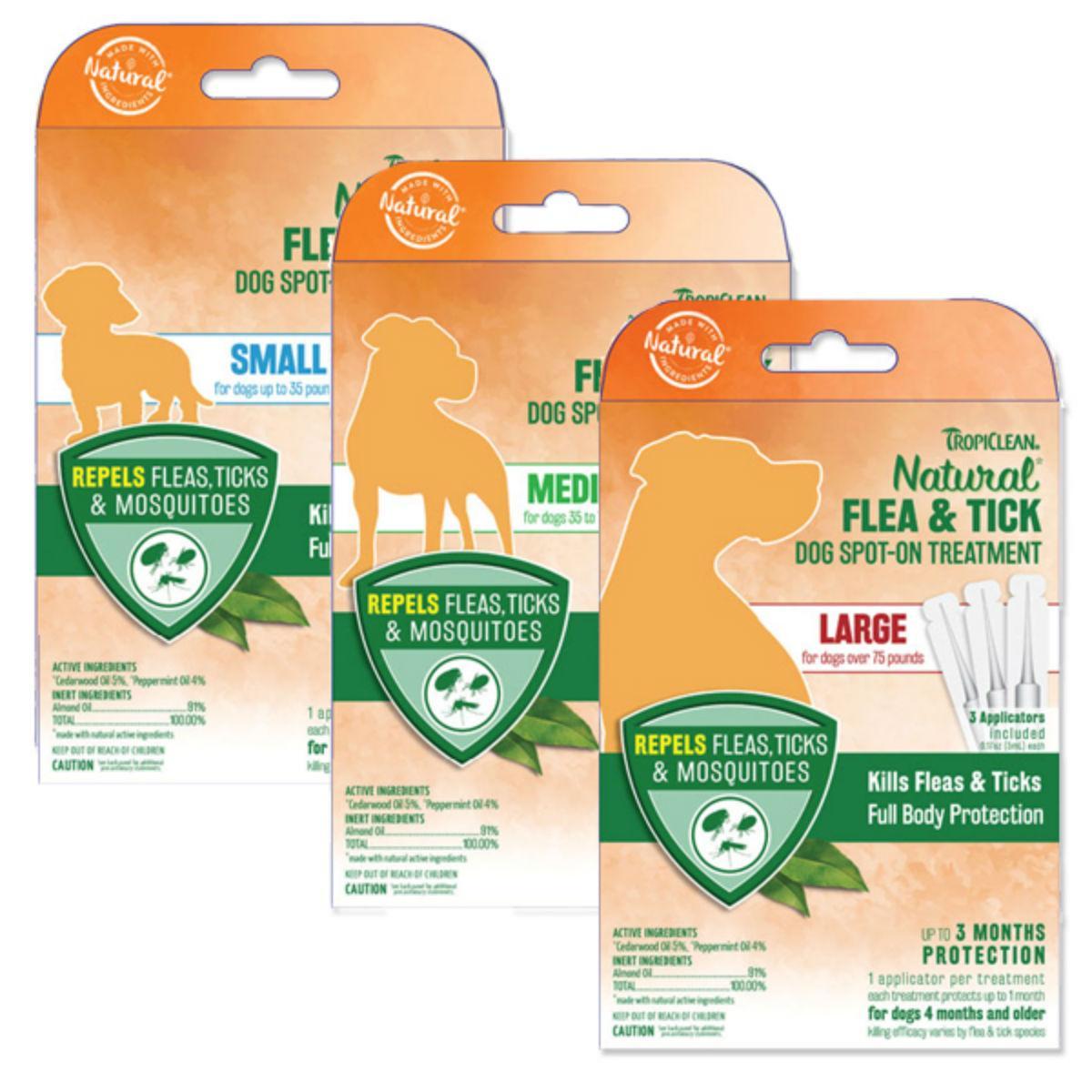 TropiClean Natural Flea & Tick Spot-On Dog Treatment