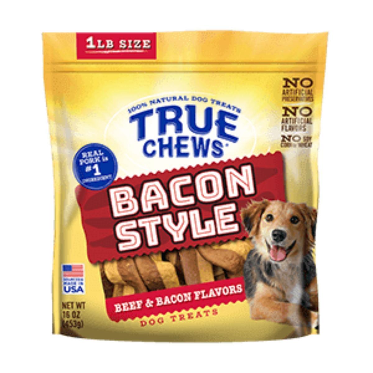True Chews Bacon Style Dog Treat - Beef & Bacon