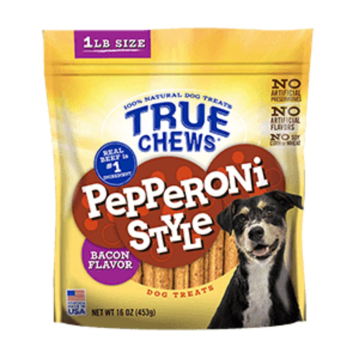 True Chews Pepperoni Style Dog Treat - Bacon