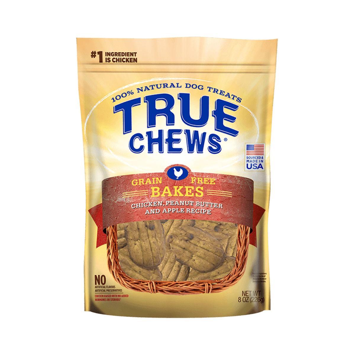 True Chews Grain Free Bakes Dog Treat - Chicken, Peanut Butter & Apple