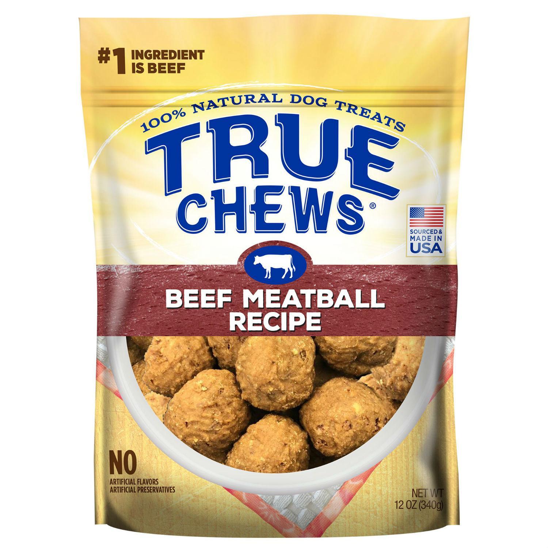 True Chews Beef Meatball Recipe Dog Treat