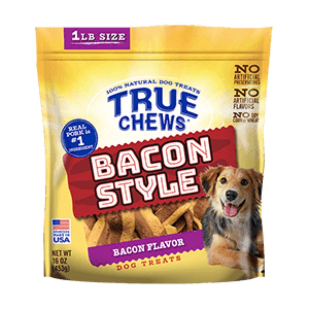 True Chews Bacon Style Dog Treat - Bacon