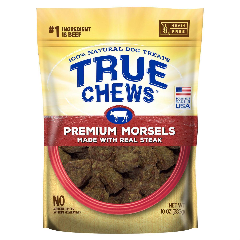 True Chews Premium Morsels Dog Treats - Real Steak