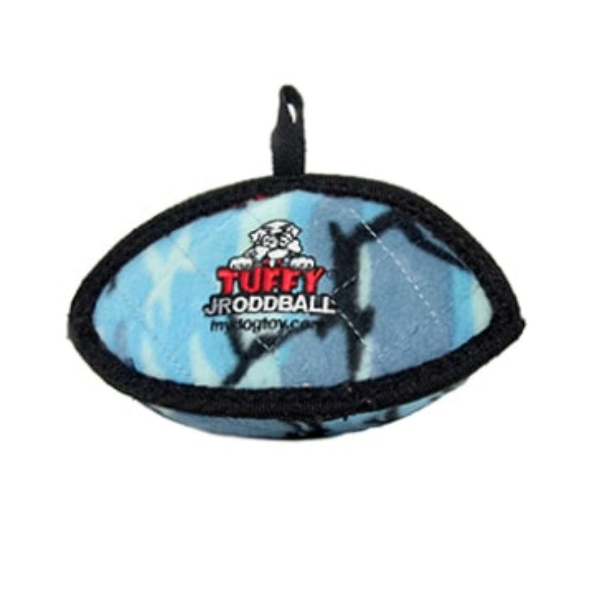 Tuffy Jr Oddball Dog Toy - Camo Blue