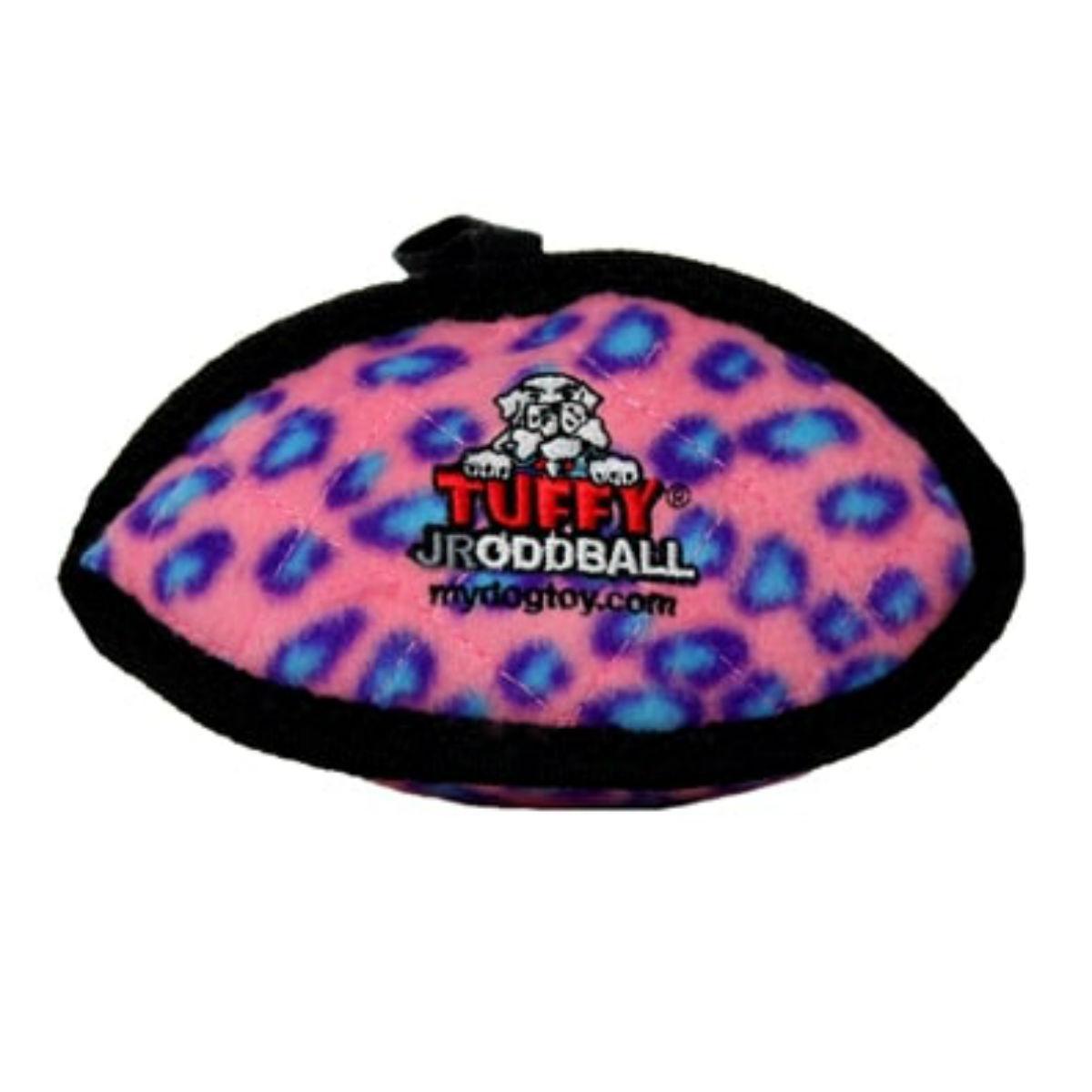 Tuffy Jr Oddball Dog Toy - Pink Leopard