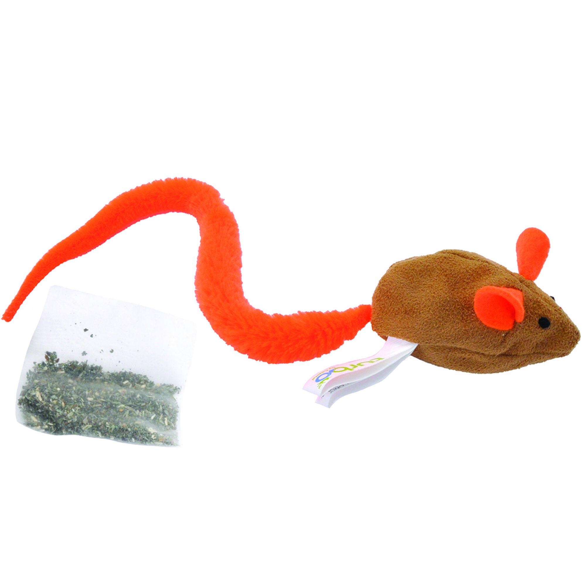 Turbo Cat Turbo Tail Cat Toy - Catnip Belly Crinkle Mouse