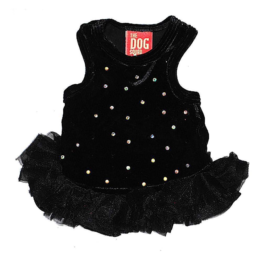 Velvet Twinkle Tutu Dog Dress by The Dog Squad - Black